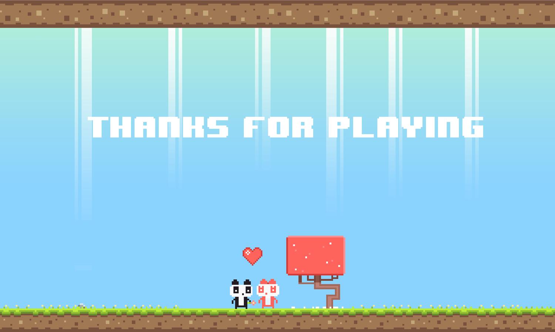 Panda Love Game Complete Screenshot.