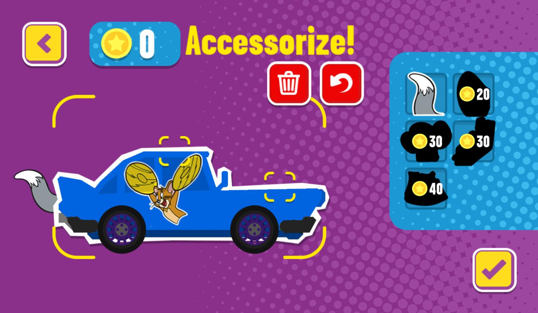 Paper Racers Game Accessorize Screenshot.