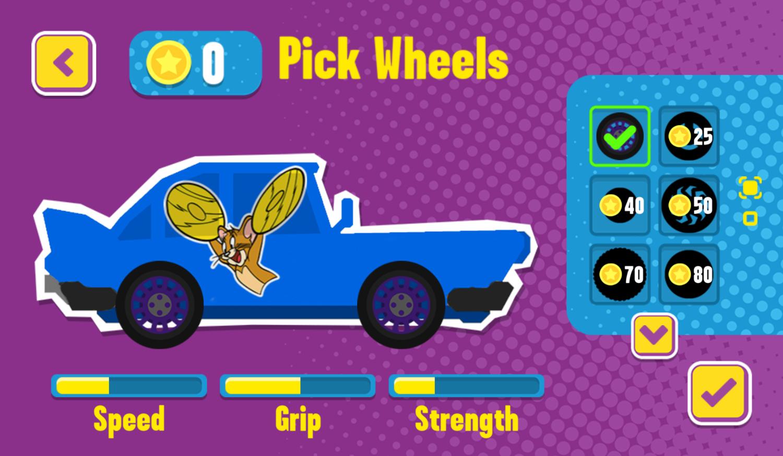 Paper Racers Game Pick Wheels Screenshot.