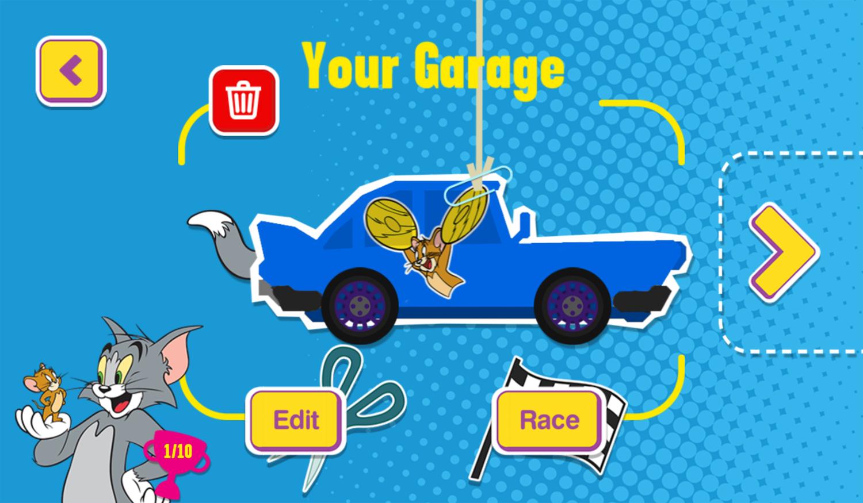 Paper Racers Game Your Garage Screenshot.