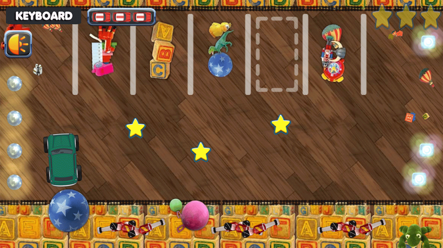 Parking Toy Story Game Screen.