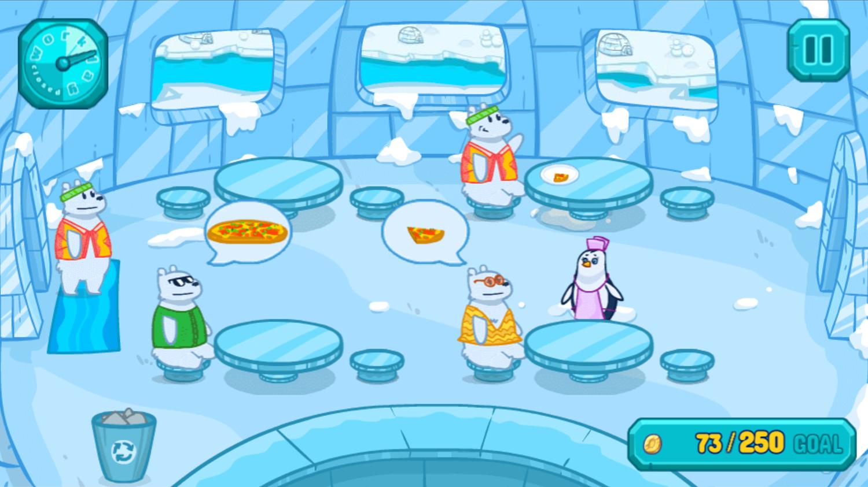 Penguin Cafe Game Screenshot.