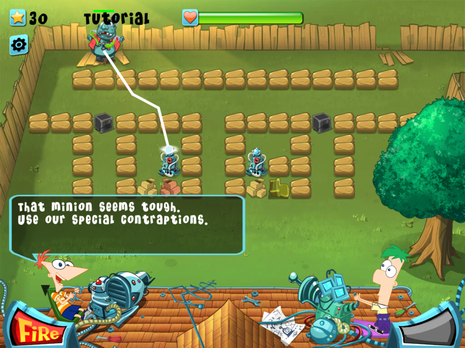 Phineas and Ferb Backyard Defense Game Extra Tips Screenshot.