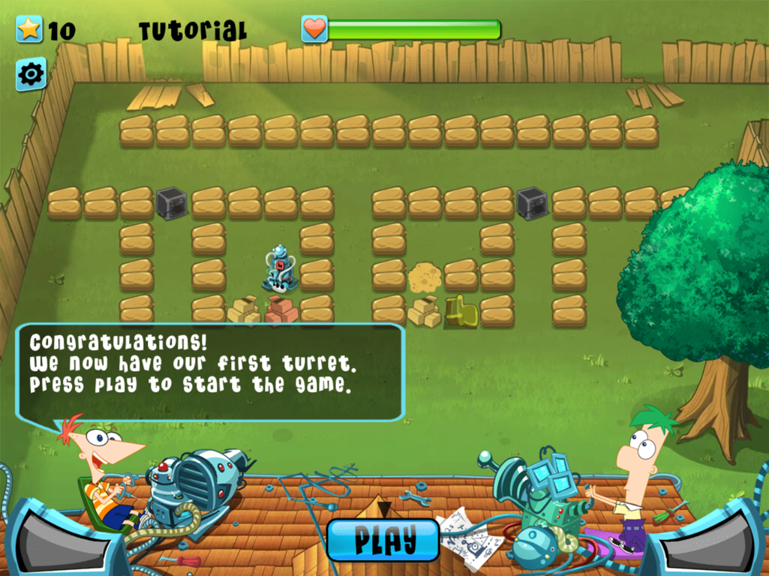 Phineas and Ferb Backyard Defense Game Play Tips Screenshot.