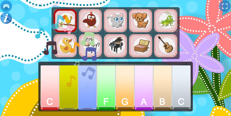 Piano for Kids Animal Sounds Bird Sounds Screenshot.