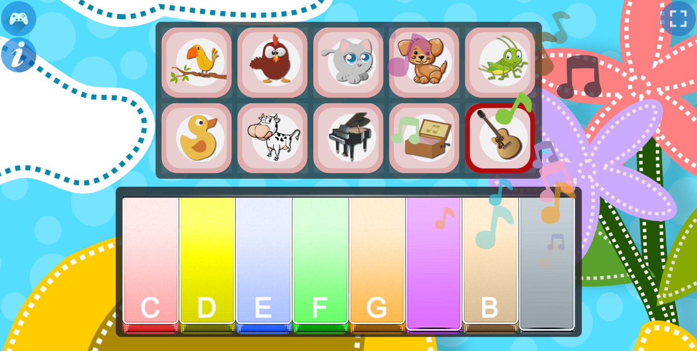 Piano for Kids Animal Sounds Guitar Sounds Screenshot.