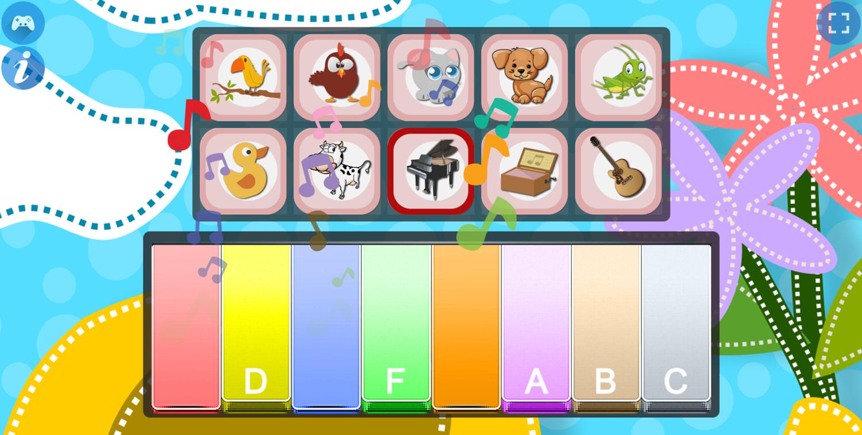 Piano for Kids Animal Sounds Piano Keys Screenshot.