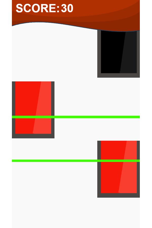 Piano Tiles Game Red Blocks Screenshot.