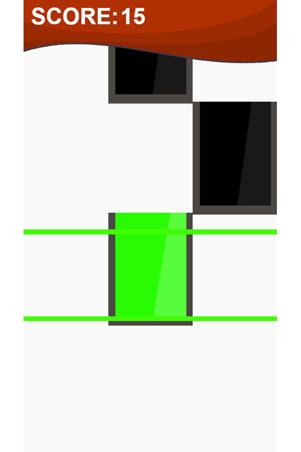 Piano Tiles Game Screenshot.