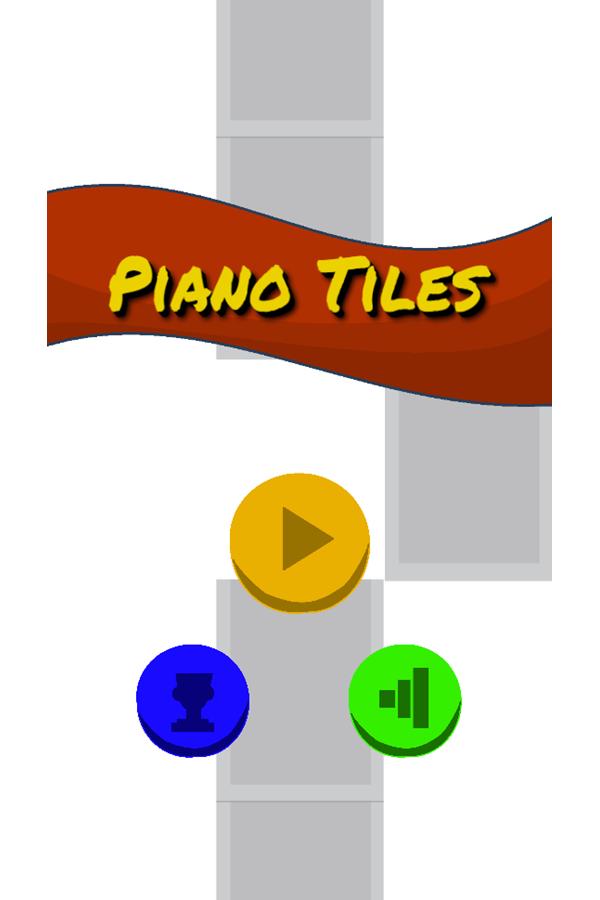 Piano Tiles Welcome Screen Screenshot.