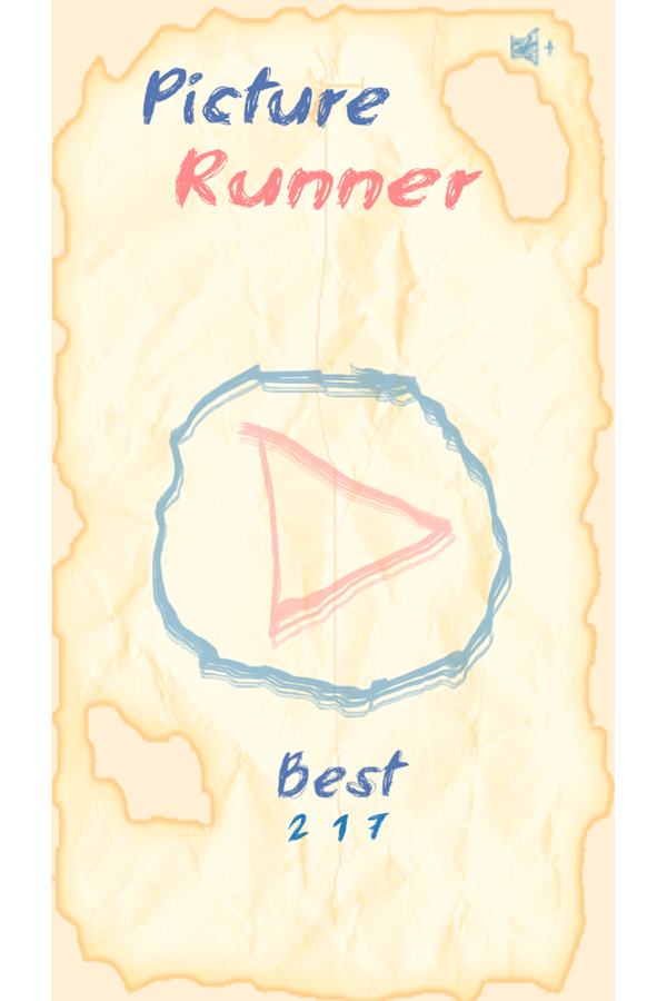 Picture Runner Welcome Screen Game Screenshot.