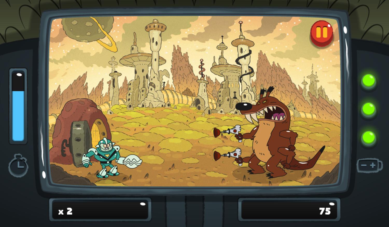 PGBC Game Lad Blitz Game Dodge The Lasers Gameplay Screenshot.