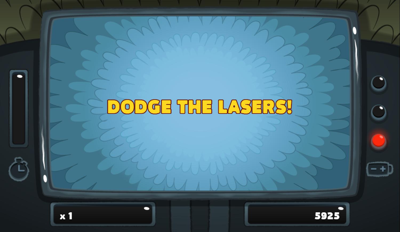 PGBC Game Lad Blitz Game Dodge The Lasers Screenshot.