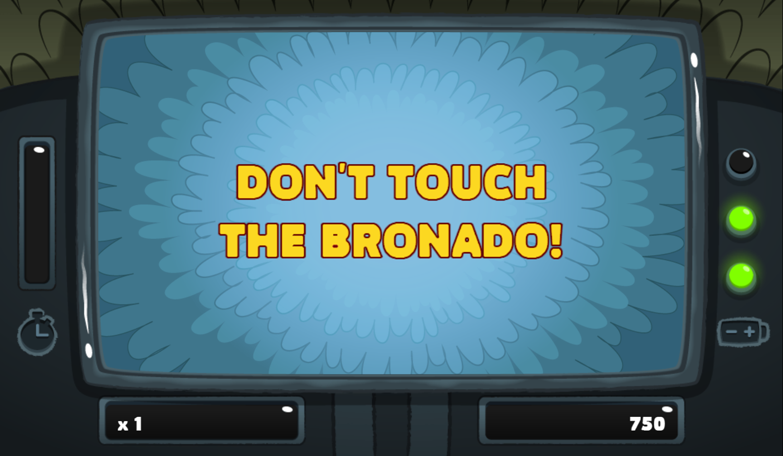 PGBC Game Lad Blitz Game Don't Touch Bronado Screenshot.