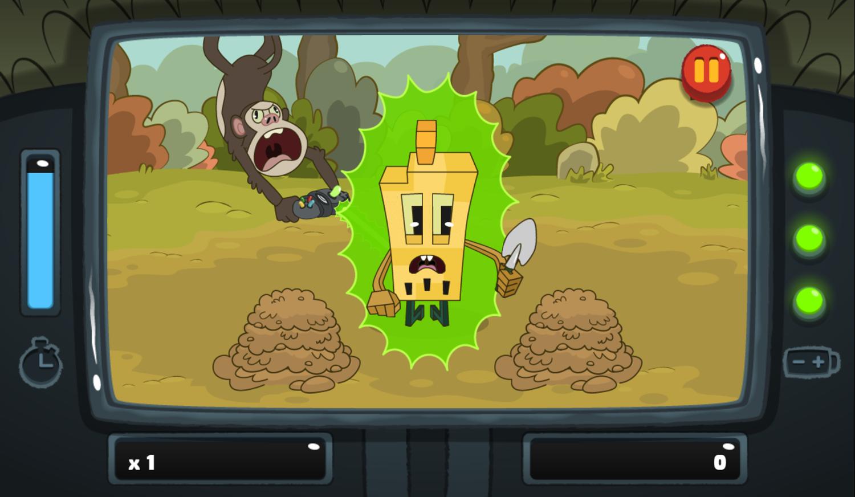 PGBC Game Lad Blitz Game Eat The Dirt Gameplay Screenshot.