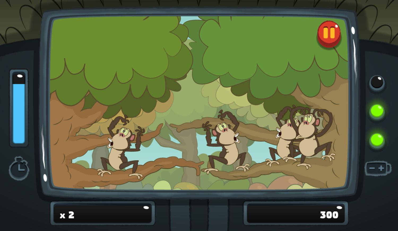 PGBC Game Lad Blitz Game Swipe The Monkeys Gameplay Screenshot.