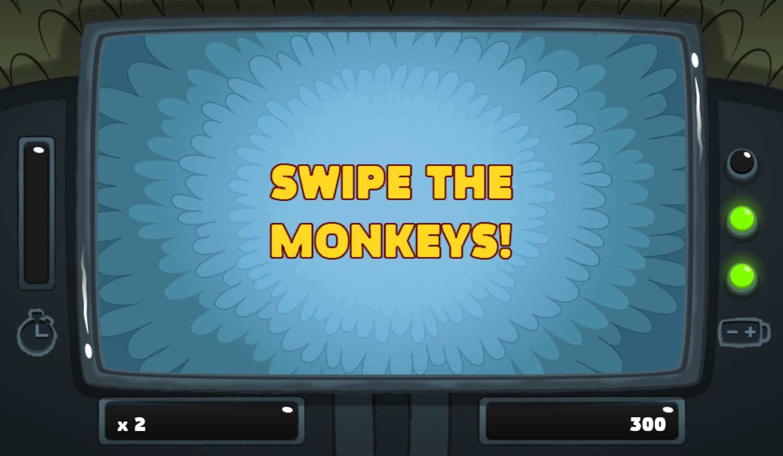 PGBC Game Lad Blitz Game Swipe The Monkeys Screenshot.