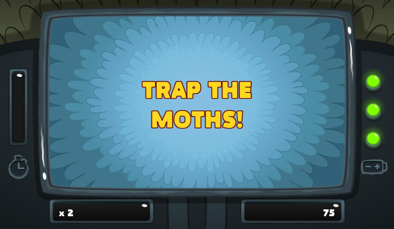 PGBC Game Lad Blitz Game Trap The Moths Screenshot.