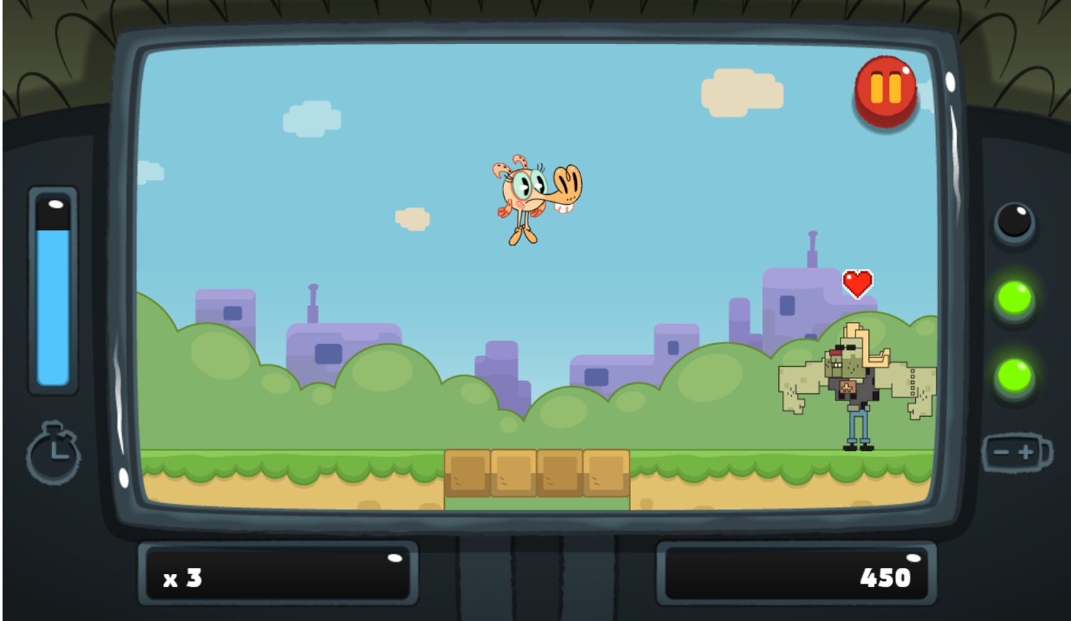 PGBC Game Lad Blitz Game Zap The Monsters Gameplay Screenshot.