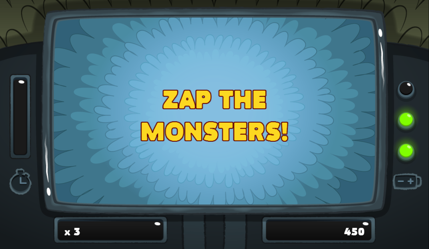 PGBC Game Lad Blitz Game Zap The Monsters Screenshot.