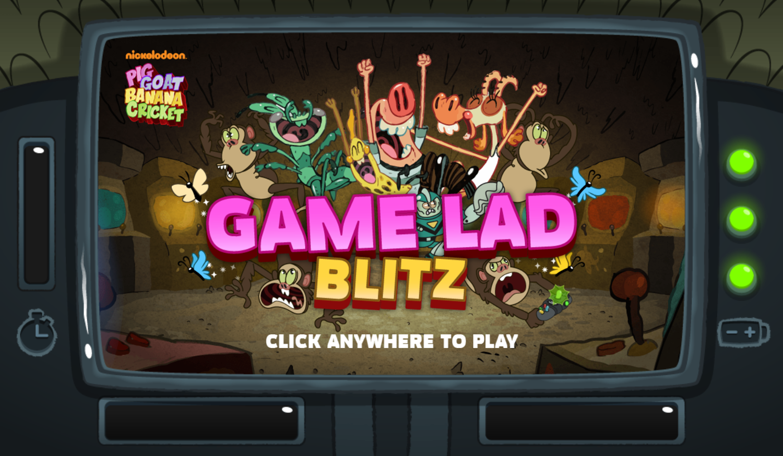 PGBC Game Lad Blitz Game Welcome Screen Screenshot.