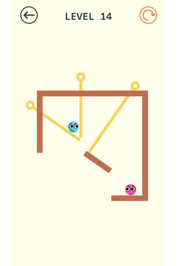 Pin Love Balls Game Failed Screenshot.