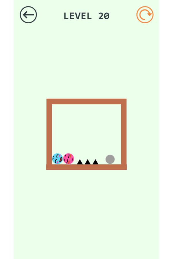 Pin Love Balls Game Level 20 Screenshot.