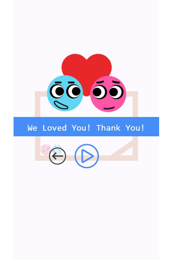 Pin Love Balls Game Level Complete Screenshot.