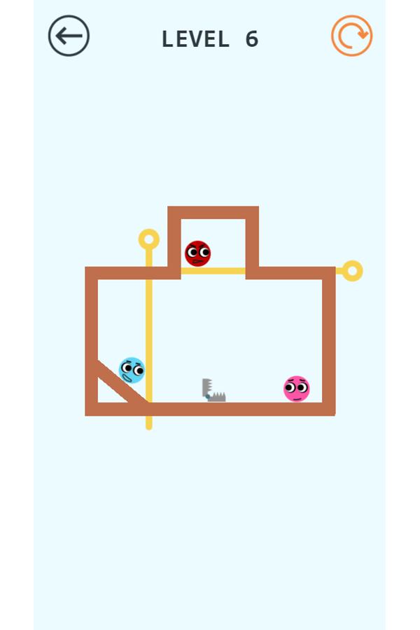 Pin Love Balls Game Screenshot.