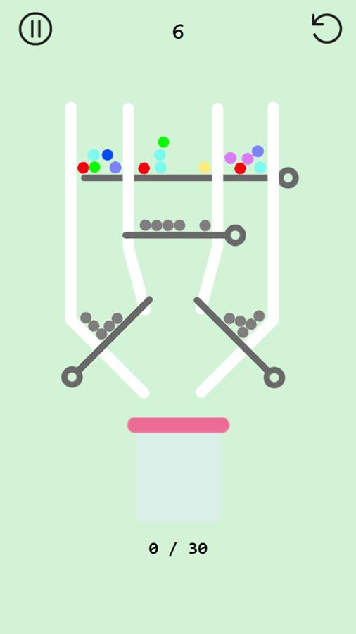 Pull Pin Game Screenshot.