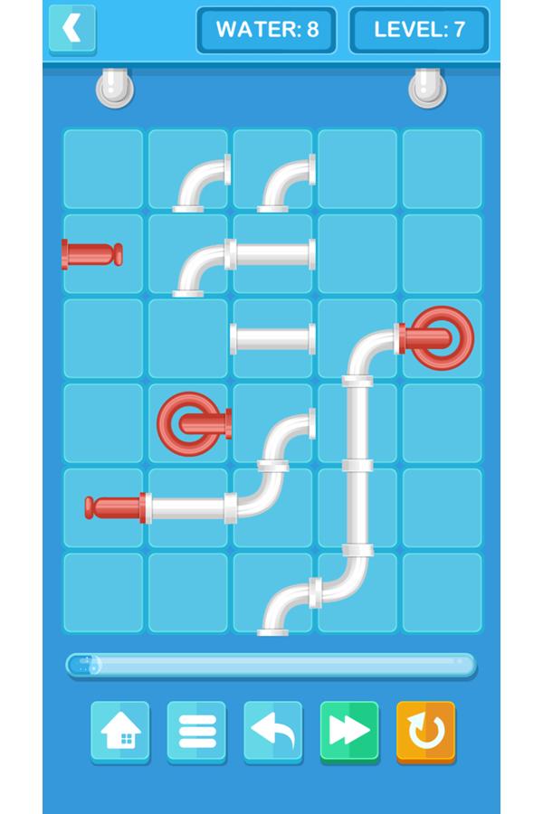 Pipe Mania Game Screenshot.