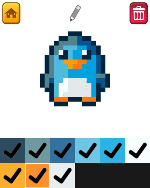 Pixel Artist Game Colored Artwork Screenshot.