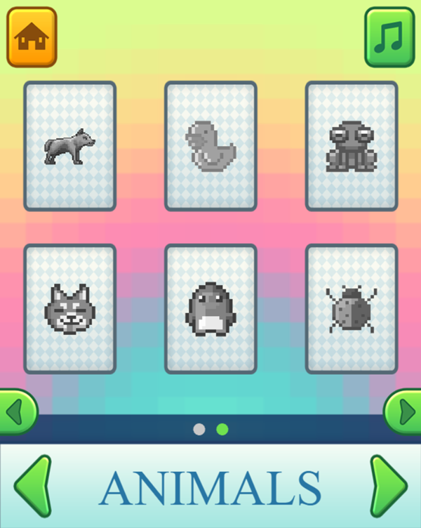 Pixel Artist Game Select Artwork Screenshot.