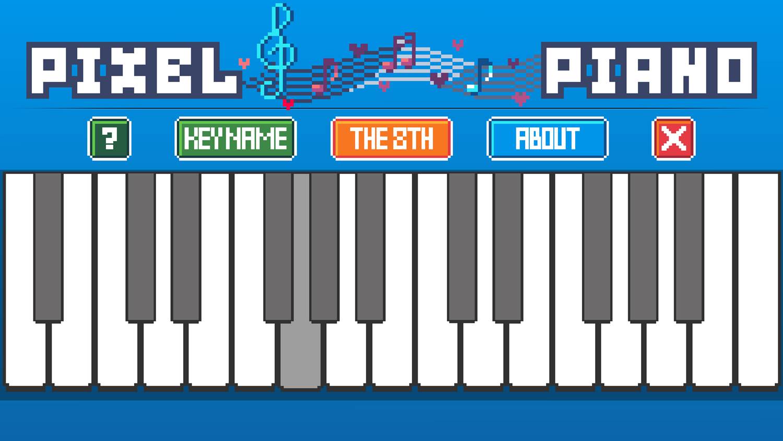 Pixel Piano Game Pressed Key Screenshot.