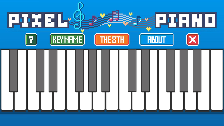 Pixel Piano Interface Screenshot.
