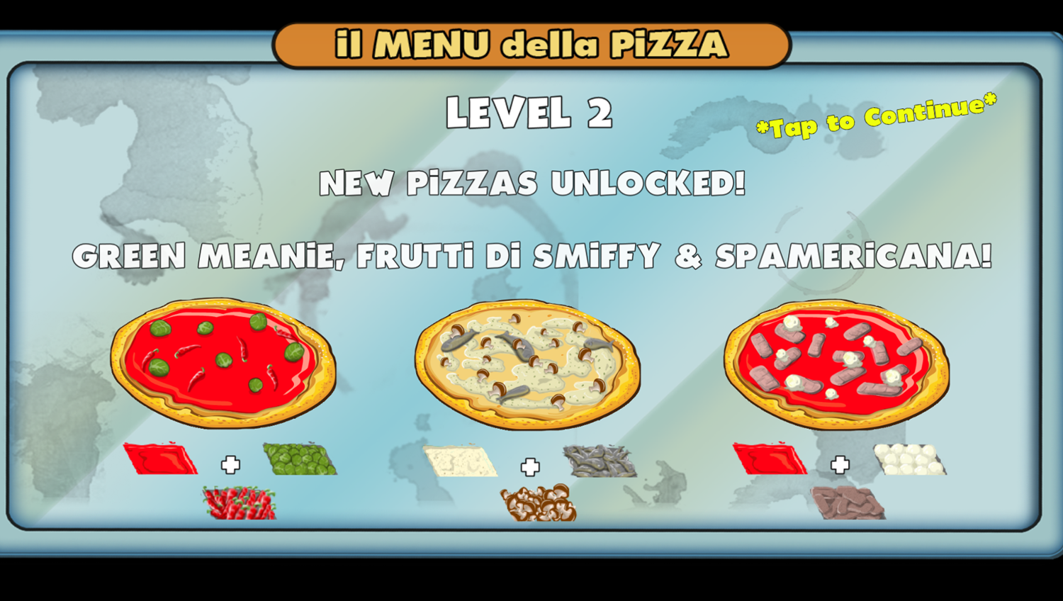 Pizza Party Game Level Complete Screenshot.