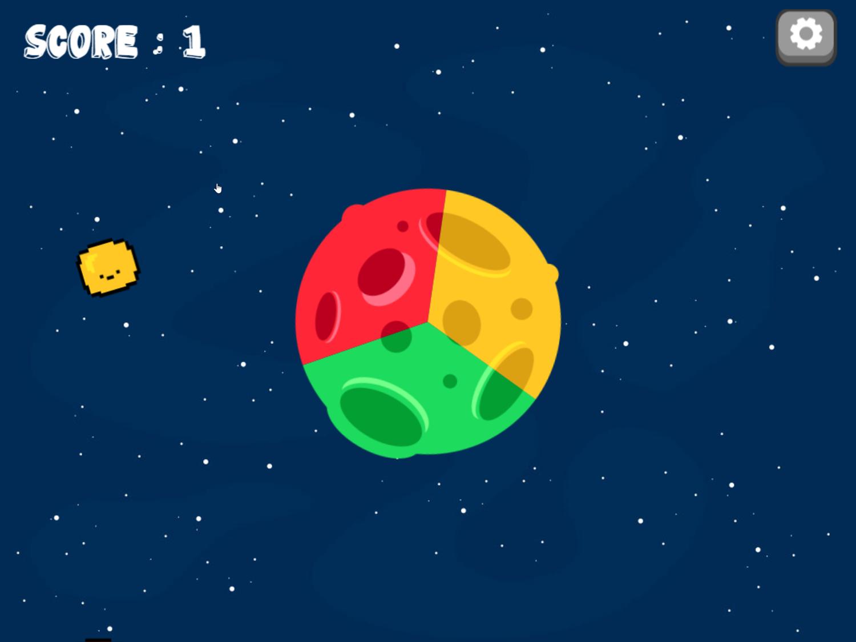 Planet Spin Game Screenshot.