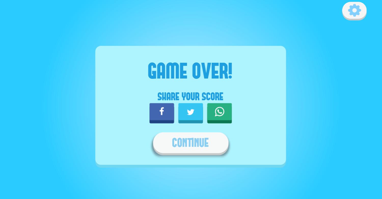 Play Maze Game Over Screenshot.