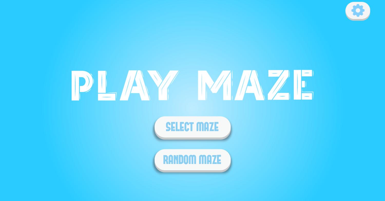 Play Maze Game Welcome Screen Screenshot.