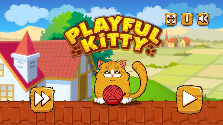 Playful Kitty Game Welcome Screenshot.