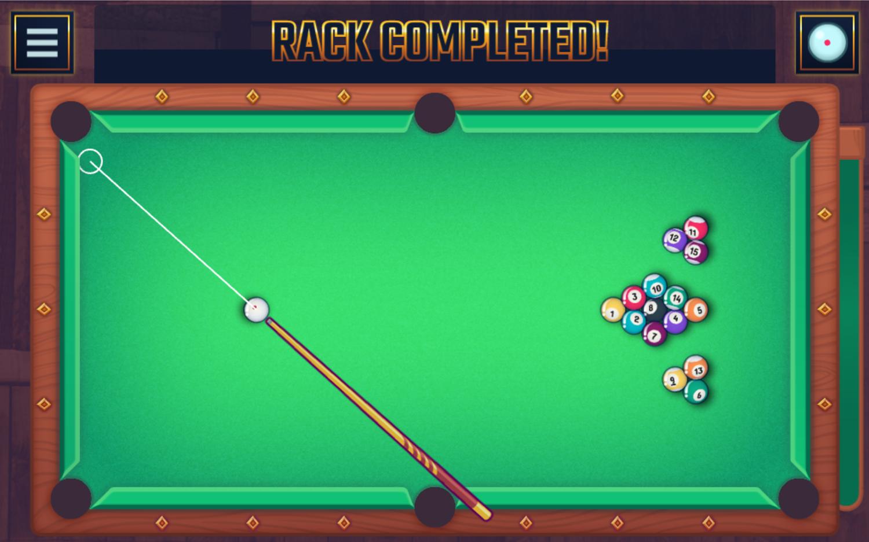 Pool Club Rack Completed Screenshot.