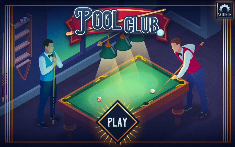 Pool Club Welcome Screen Screenshot.