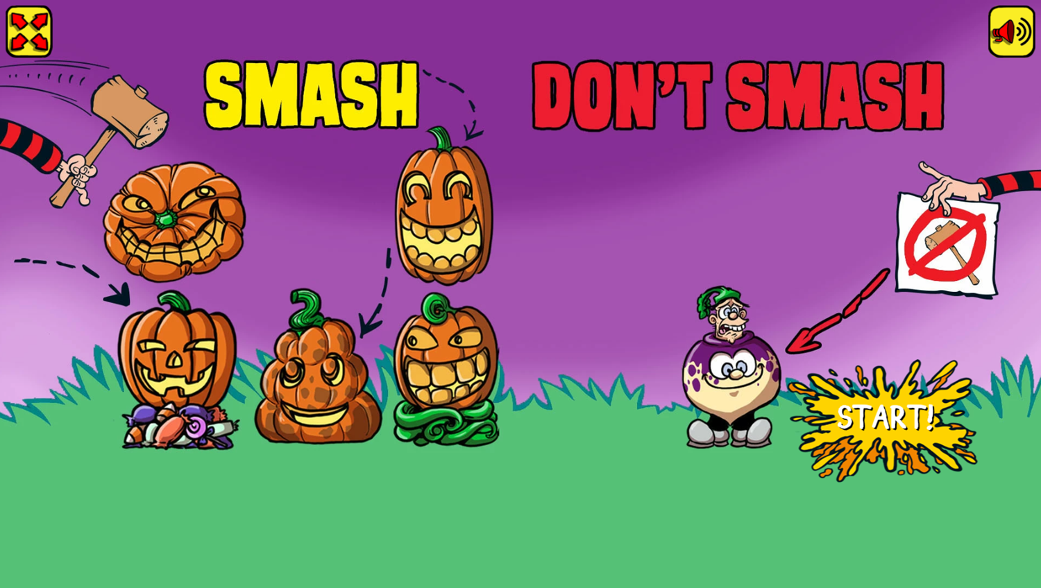 Poop in the Pumpkin Patch Game How To Play Screenshot.