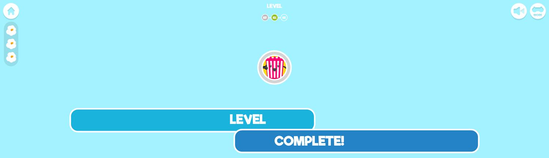 Popcorn Master Game Welcome Screen Screenshot.