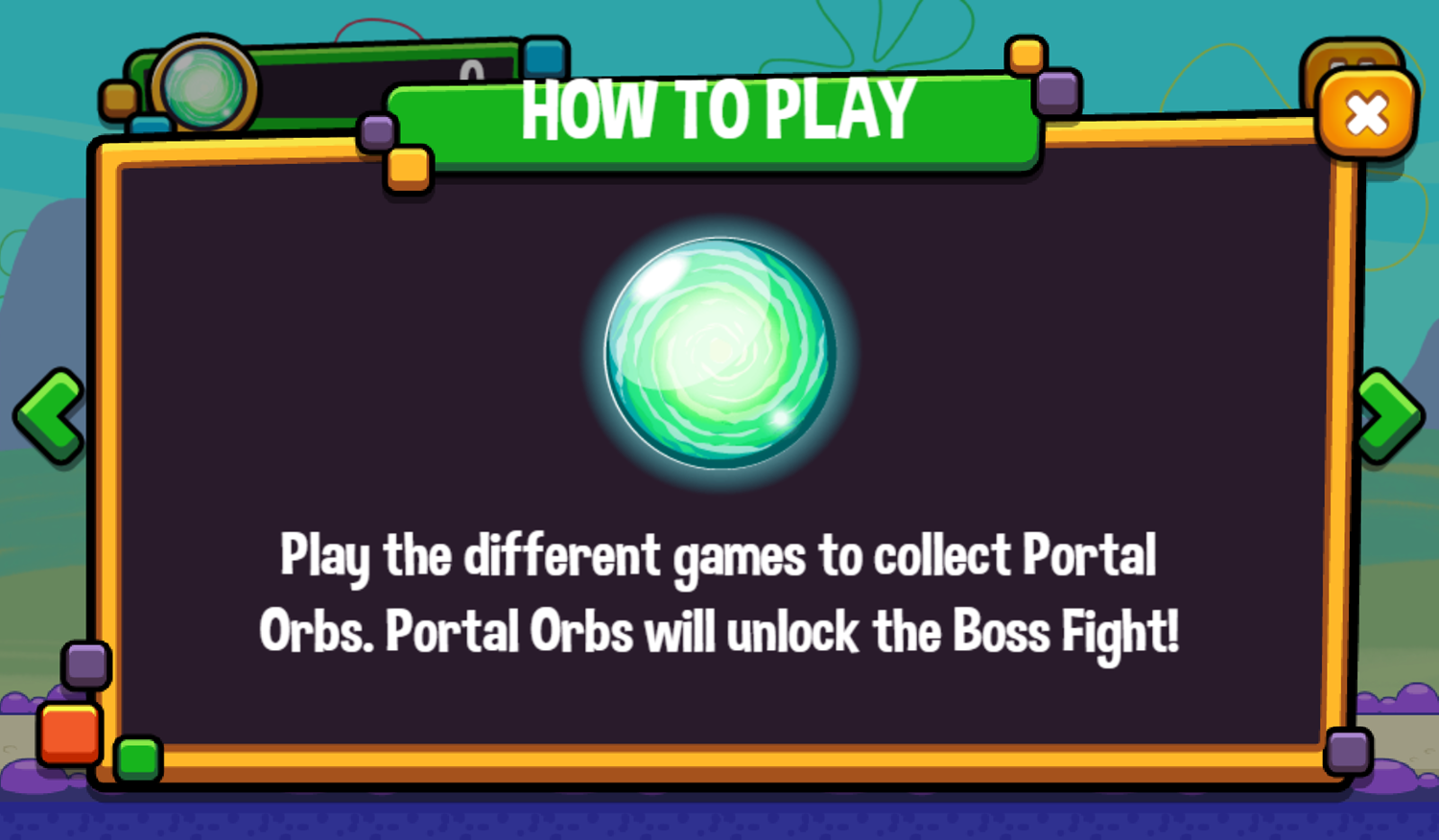 Portal Chase Game How To Play Screenshot.