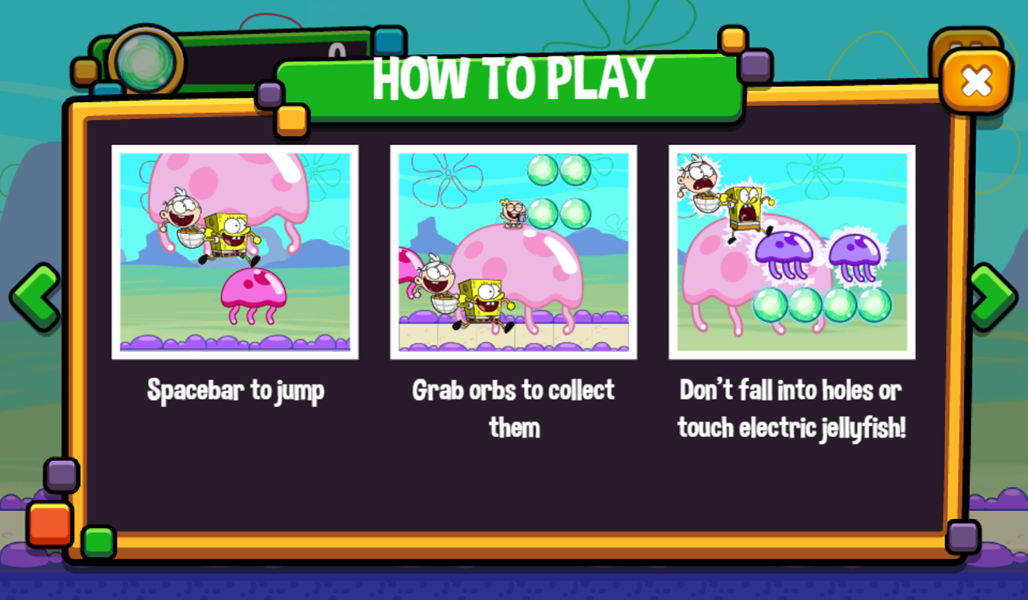 Portal Chase Game Jellyfish Jump How To Play Screenshot.