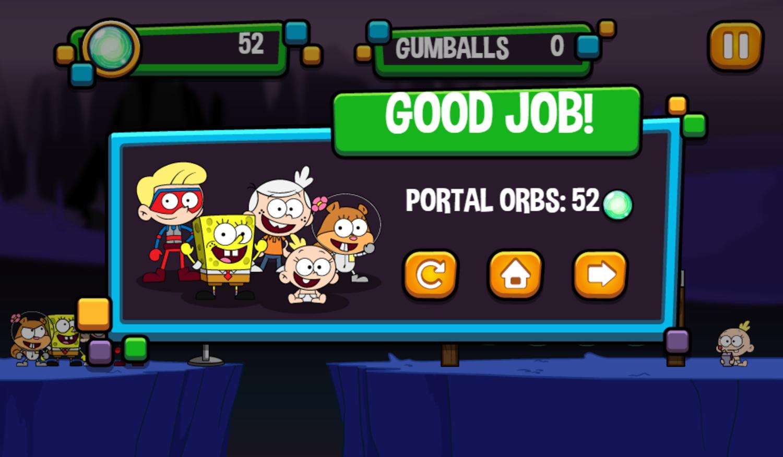 Portal Chase Game Slingshot Strike Complete Screenshot.