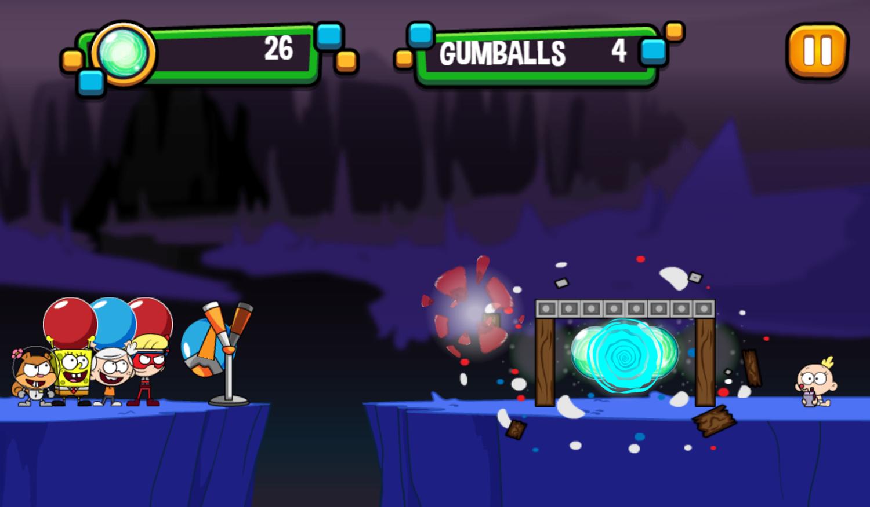 Portal Chase Game Slingshot Strike Play Screenshot.