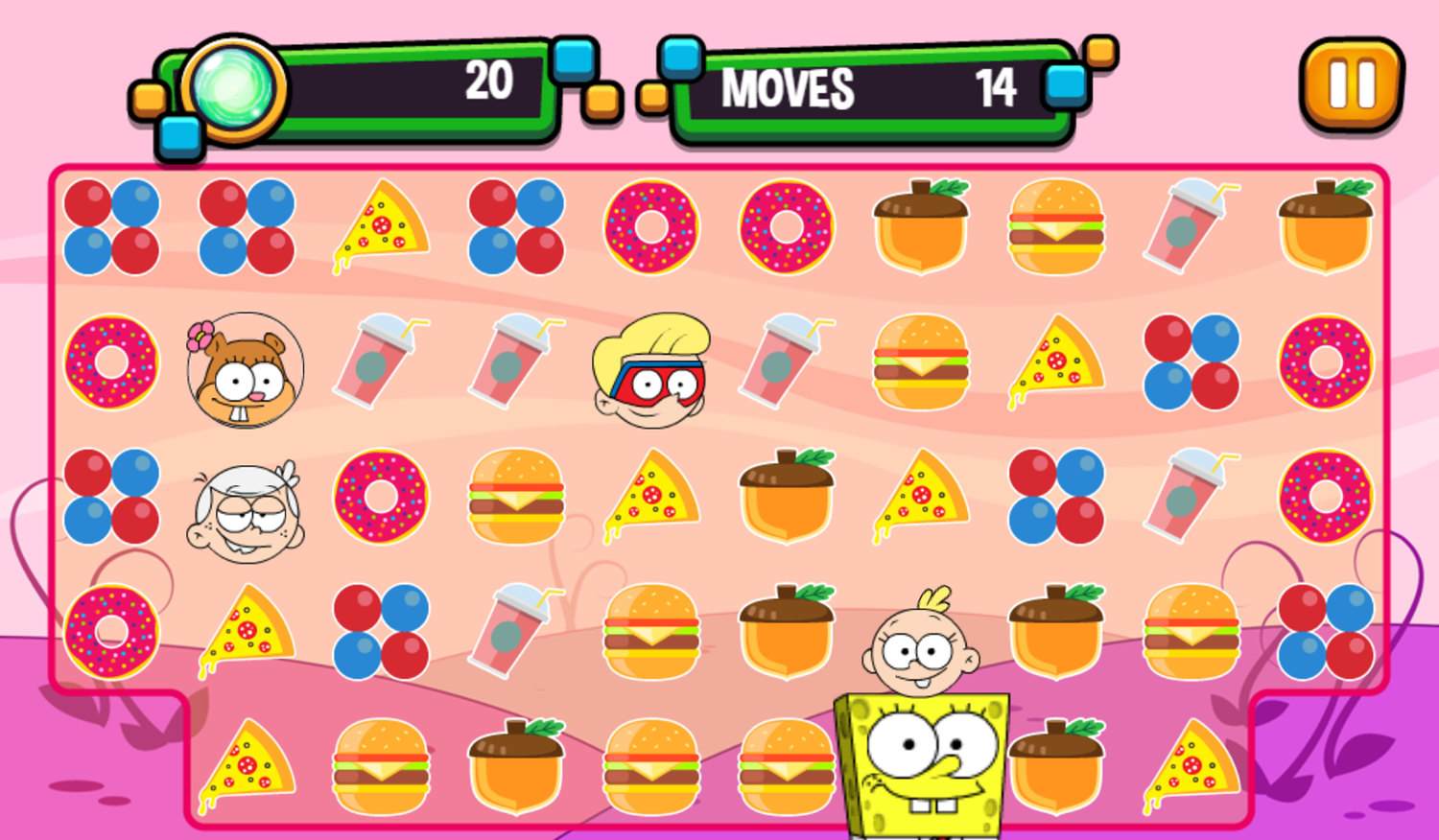 Portal Chase Game Snack Match Play Screenshot.