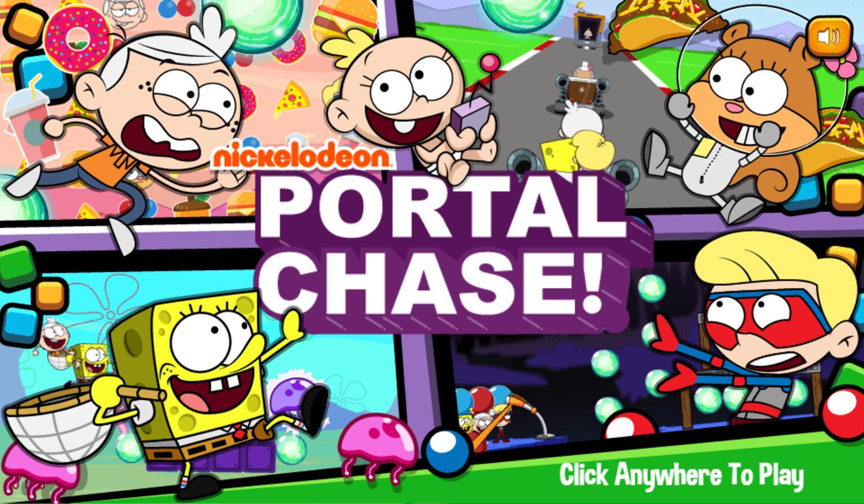 Portal Chase Game Welcome Screen Screenshot.